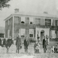 Nelson Family in front of Gunnison House