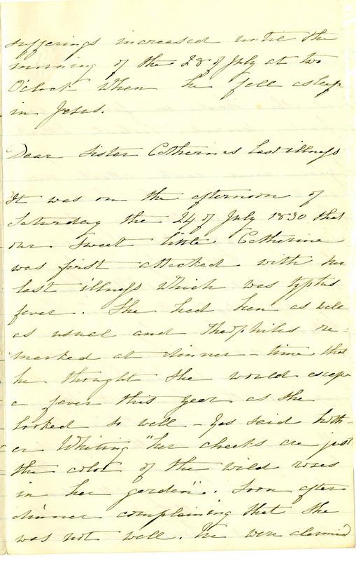 Account of Catherine's Death