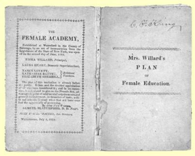 Emma Willard, Plan of Female Education