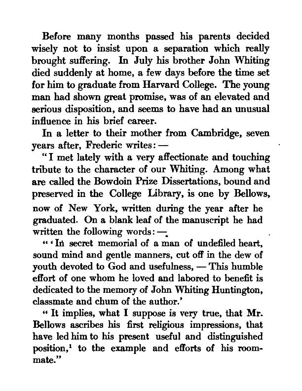 Memoir and Letters of Frederic Dan Huntington